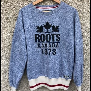 Roots Canada 1973 Salt and Pepper Sweatshirt M